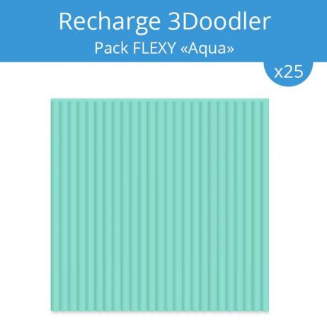 """Recharge 3Doodler : pack Flexy """"Aqua"""""""