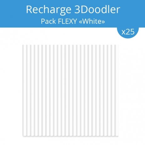 Recharge 3Doodler : pack Flexy White