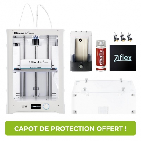 Pack Ultimaker 3 Extended et capot