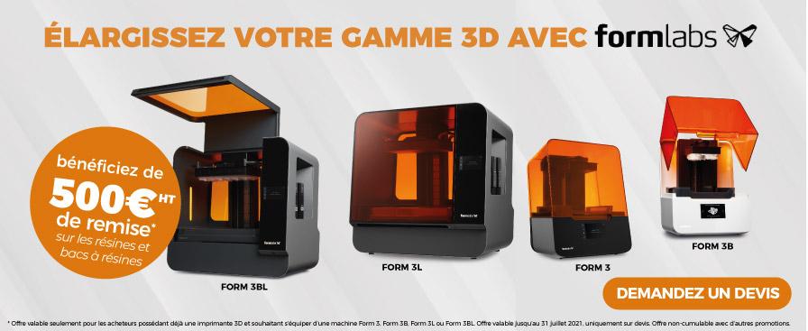 Élargissez votre gamme 3D avec Formlabs